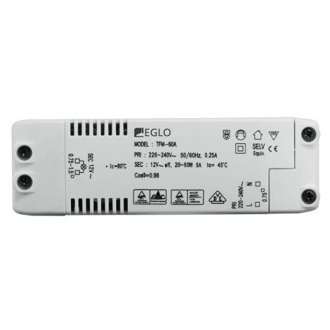 Eglo 80884 - Elektrický transformátor EINBAUSPOT 60W