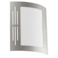 EGLO 82309 - Venkovní nástěnné svítidlo CITY 1xE27/15W/230V IP44