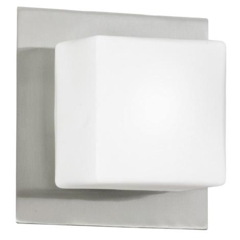 EGLO 83554 - Nástěnné stropní svítidlo BLOC 1xG9/40W matný nikl / opál