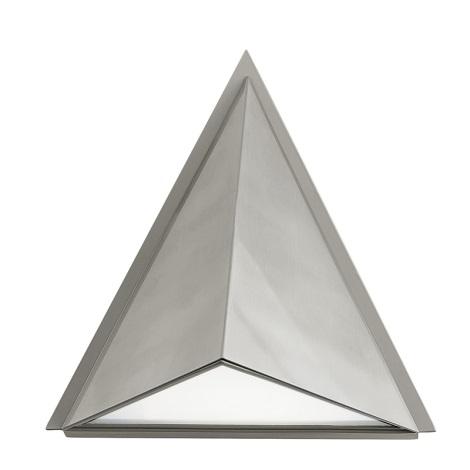 EGLO 83758 - Venkovní nástěnné svítidlo TRIGO 1xE27/60W stříbrná / bílá