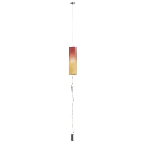 EGLO 83787 - Lustr MOBILE 1 1xE27/100W nikl/červená/oranžová