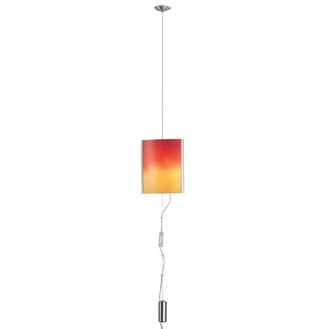 EGLO 83789 - Lustr MOBILE 2xE14/60W nikl/červená/oranžová