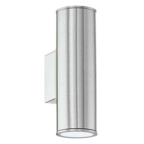 EGLO 84002 - LED Venkovní nástěnné svítidlo RIGA 2xGU10/3,2W + 2xGU10/50W ZDARMA