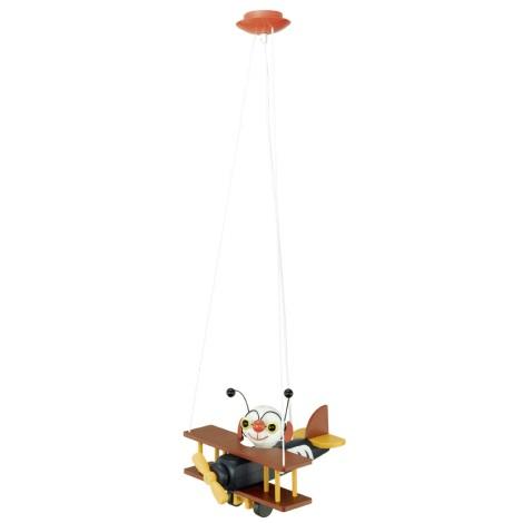 Eglo 85059 - Dětské závěsné svítidlo AIRMAN E27/15W/230V