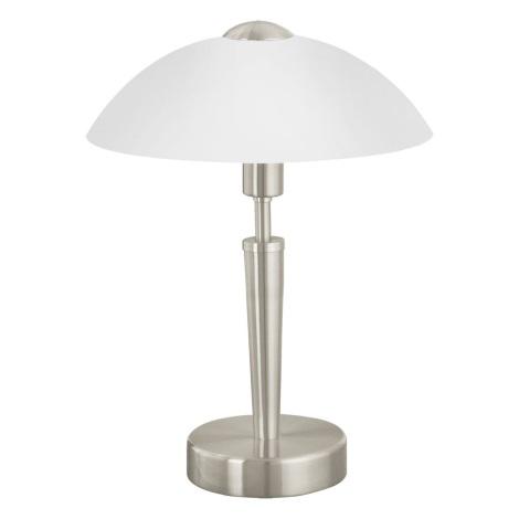 EGLO 85104 - Stolní lampa SOLO 1 1xE14/60W/230V matný nikl/satén