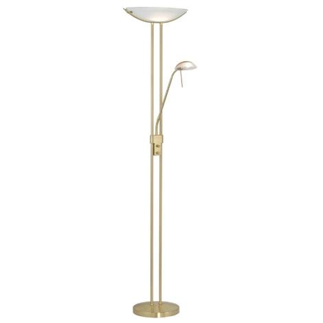EGLO 85973 - Stmívatelná stojací lampa BAYA 1xR7s/230W+1xG9/33W Matná zlatá