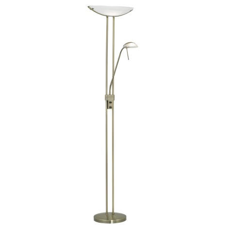 EGLO 85974 - Stmívatelná stojací lampa BAYA 1xR7s/230W + 1xG9/33W bronz