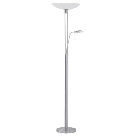 EGLO 86573 - Stmívatelná stojací lampa TAMPA 1xR7s/300W matný nikl / satén