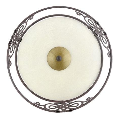 EGLO 86711 - Nástěnné stropní svítidlo MESTRE 1 x E27/60W antická hnědá / zlatá