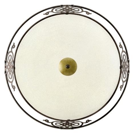 EGLO 86713 - Nástěnné stropní svítidlo MESTRE 3xE27/60W antická hnědá / zlatá