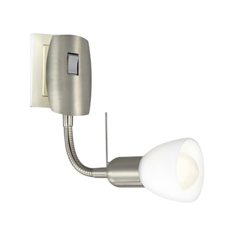 EGLO 87033 - Bodové svítidlo do zásuvky MATEO 1xE14/40W/230V