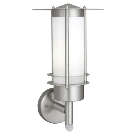 EGLO 87104 - Venkovní nástěnné svítidlo MALMÖ 1xE27/15W s čidlem