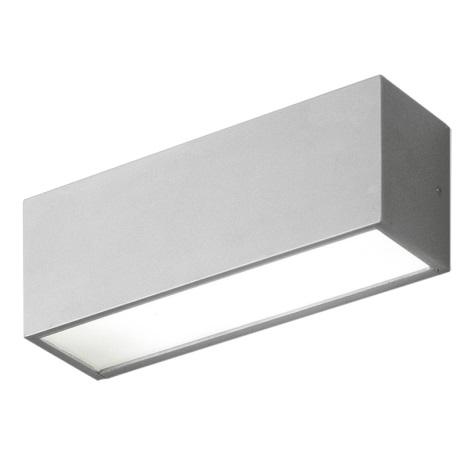 EGLO 87138 - Venkovní nástěnné svítidlo CINEMA 1xG23/11W stříbrná / bílá