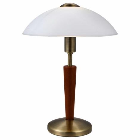 EGLO 87256 - Stmívatelná stolní lampa SOLO 1 1xE14/60W ořechové dřevo