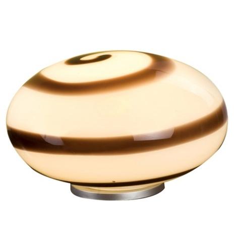 EGLO 87282 - Stolní lampa NARO 1xE27/60W hnědá / bílá