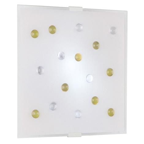 EGLO 87311 - Nástěnné stropní svítidlo SANTIAGO 1 2xE14/40W žlutá/bílá