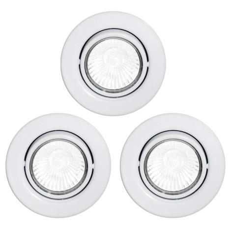 Eglo 87382 - SADA 3x Podhledové svítidlo EINBAUSPOT 3xGU10/50W/230V