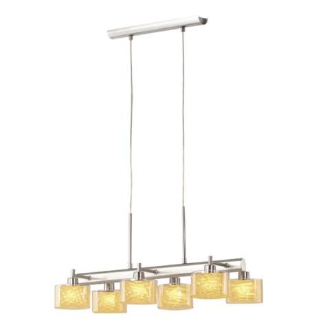 EGLO 87583 - Závěsné svítidlo DE LUX 6xG9/40W