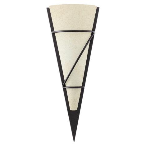 EGLO 87794 - Nástěnné svítidlo PASCAL 1 1xE27/60W antická hnědá/bílá