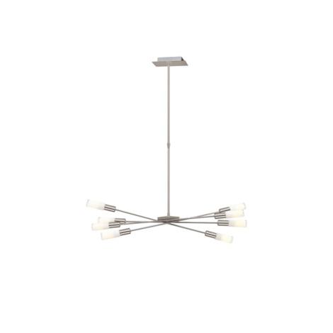 EGLO 87976 - Lustr SAMANTA 8xE14/9W matný nikl/bílá