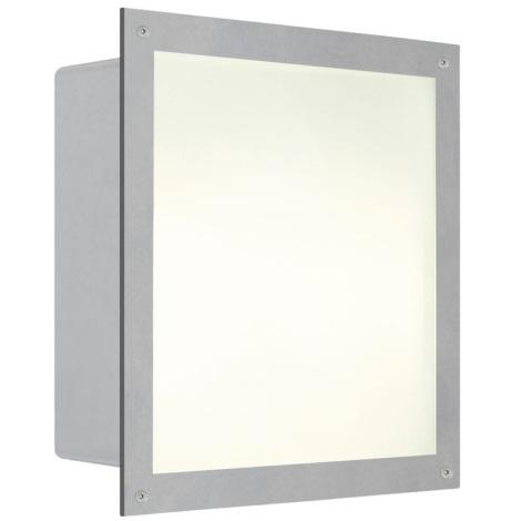 EGLO 88009 - Venkovní nástěnné svítidlo ZIMBA 1xE27/100W stříbrná/bílá