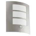 EGLO 88142 - Senzorové venkovní nástěnné svítidlo CITY 1xE27/15W/230V IP44
