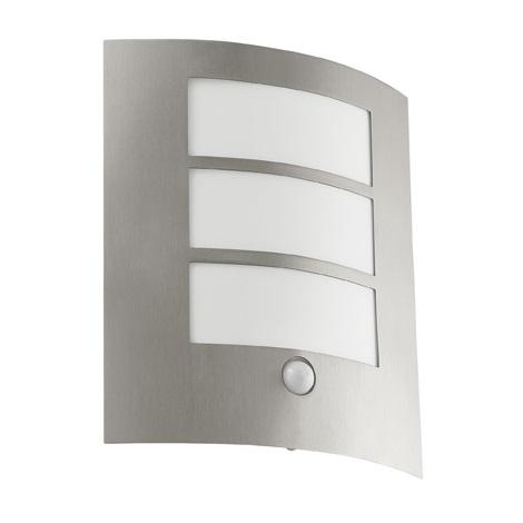 EGLO 88142 - Senzorové venkovní nástěnné svítidlo CITY 1xE27/15W