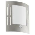 EGLO 88144 - Senzorové venkovní nástěnné svítidlo CITY 1xE27/15W/230V IP44