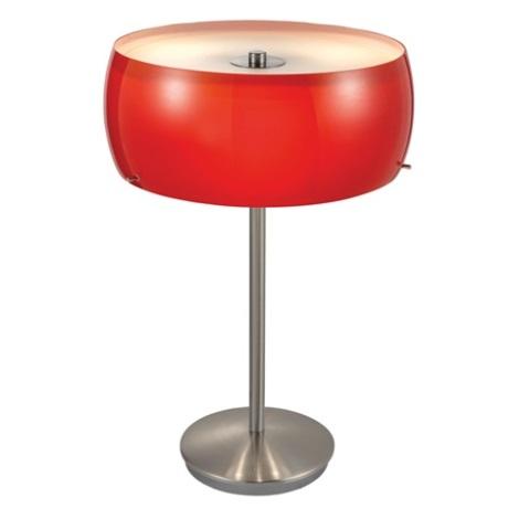 EGLO 88187 - Stolní lampa CAMARO 3xE14/40W červená