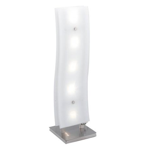 EGLO 88208 - Stolní lampa NEWS 5xG4/20W chrom/bílá