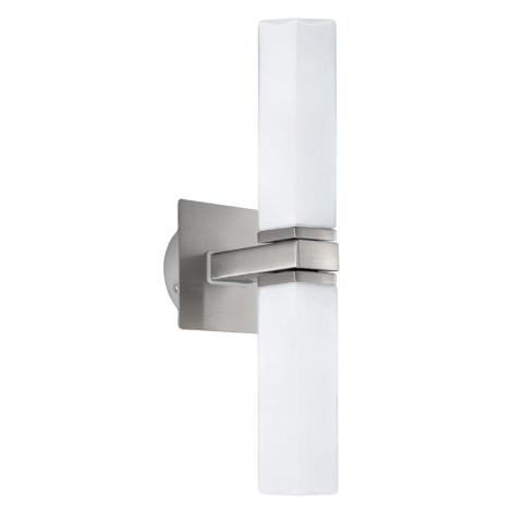 EGLO 88284 - Nástěnné koupelnové svítidlo PALERMO 2xG9/40W opálové sklo IP44