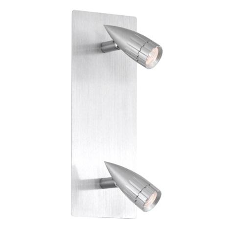 EGLO 88349 - Bodové svítidlo PENFORM 2xMR8+C G4/20W hliník