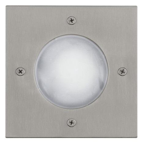 EGLO 88448 - Venkovní nájezdové svítidlo RIGA 3 1xGU10/LED/1W bílá