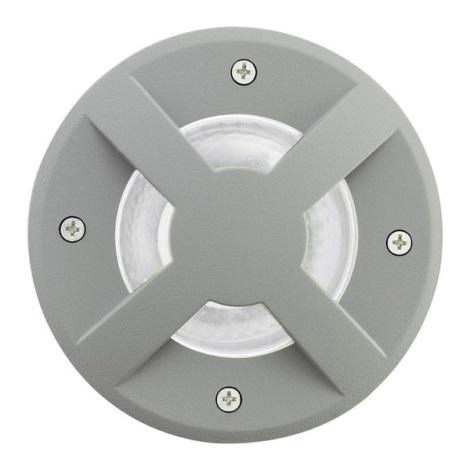 EGLO 88558 - Venkovní nájezdové svítidlo RIGA 3 1xGU10/9W stříbrná