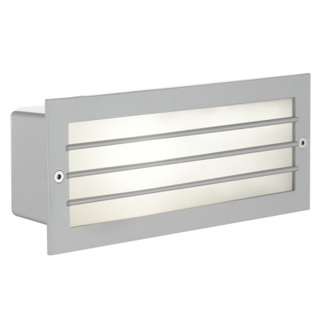 EGLO 88576 - Venkovní nástěnné svítidlo ZIMBA 1xE27/60W stříbrná/bílá