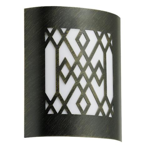 EGLO 88577 - Venkovní nástěnné svítidlo CITY CLASSIC 1xE27/15W černá / zlatá