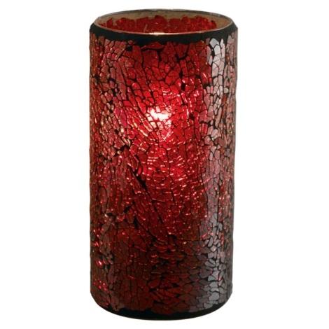EGLO 88699 - Stolní lampa CROCO 1xE27/60W červená