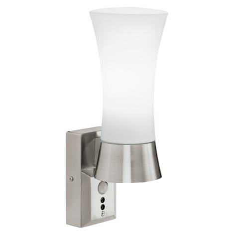 EGLO 88726 - Nástěnné svítidlo s čidlem WALL STREET 1xE27/60W bílá