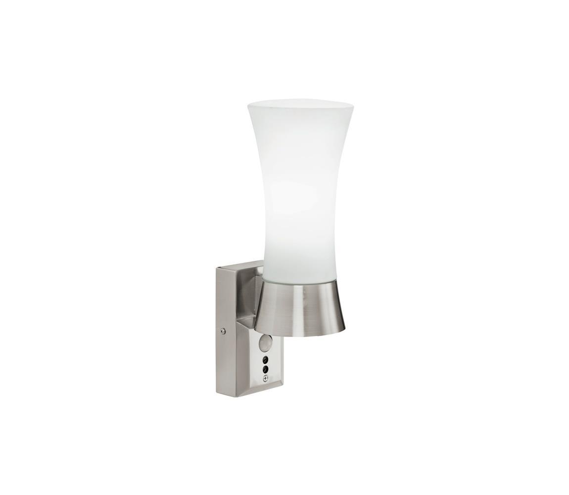Eglo 88726 - Venkovní nástěnné svítidlo s čidlem WALL STREET 1xE27/60W bílá EG88726