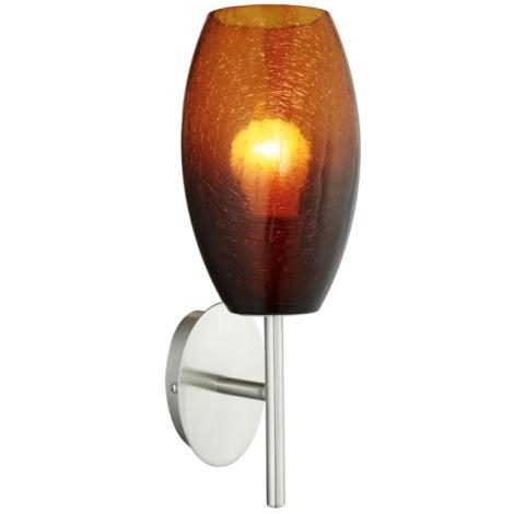 EGLO 88951 - Nástěnné svítidlo BATISTA 1xE27/60W hnědá