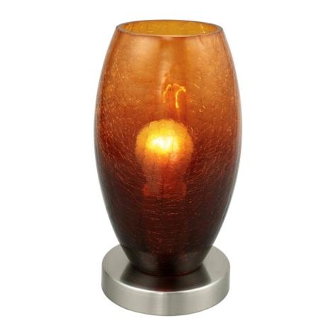 EGLO 88952 - Stolní lampa BATISTA 1xE27/60W hnědá