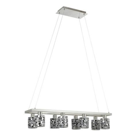EGLO 89054 - Lustr DIEGO 1 8xE14/40W černá/stříbrná/bílá