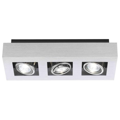 EGLO 89077 - Bodové svítidlo LOKE 3xGU10/35W/230V