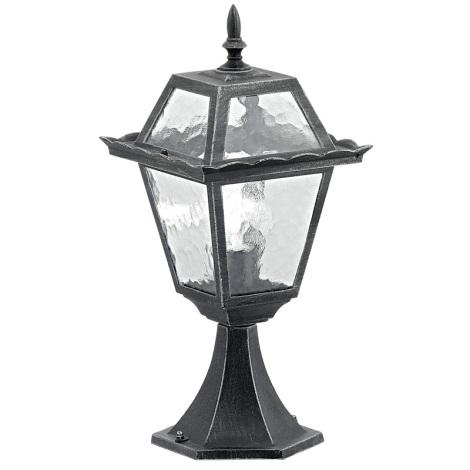 EGLO 89234 - Venkovní lampa ABANO 1xE27/100W černá/stříbrná patina