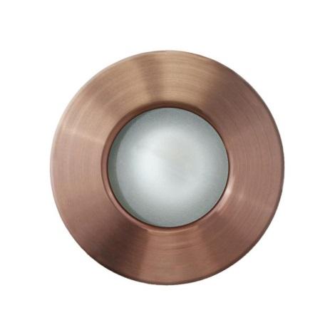 EGLO 89288 - Venkovní podhledové svítidlo MARGO 1xGU10/50W měď