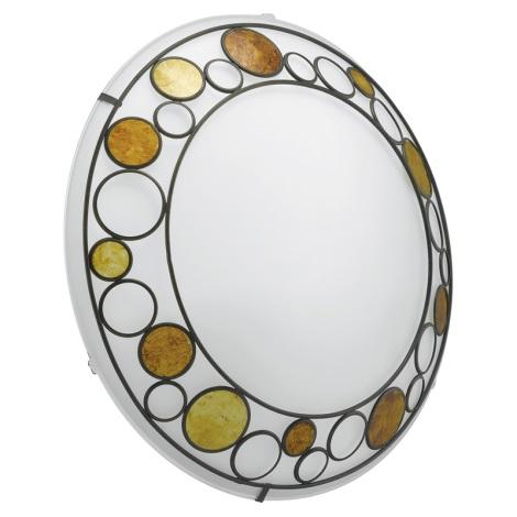 EGLO 89323 - Stropní nástěnné svítidlo TOLEDA 2xE27/60W bílá/hnědá/oranžová
