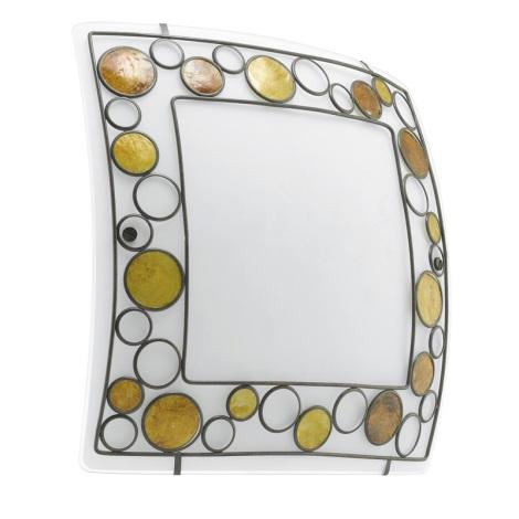 EGLO 89324 - Nástěnné stropní svítidlo TOLEDA 2xE27/60W bílá/hnědá/oranžová