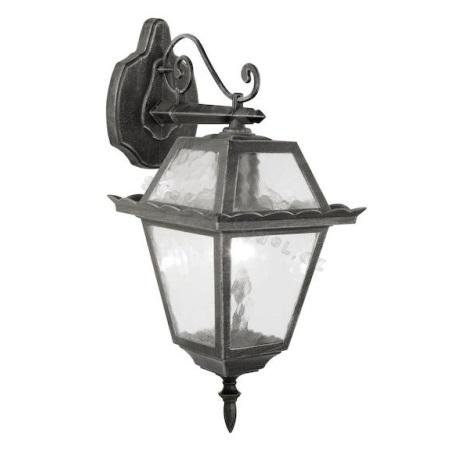 EGLO 89349 - Venkovní nástěnné svítidlo ABANO 1xE27/100W černá/stříbrná patina