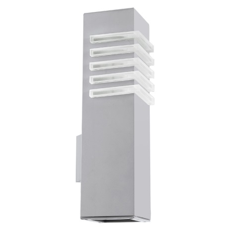 EGLO 89445 - Venkovní nástěnné svítidlo LUTON 1xE27/22W + 1xGU10/9W