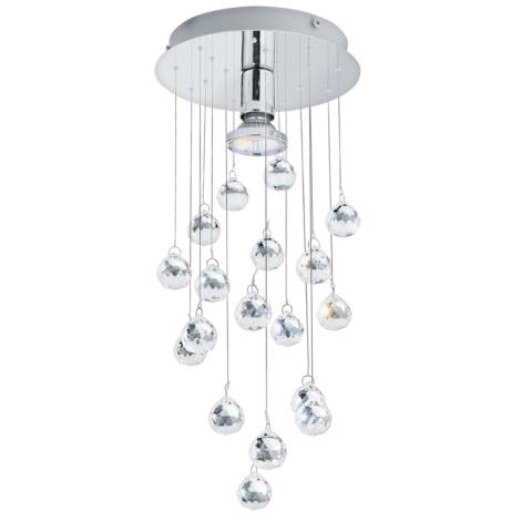 Eglo 89527 - Křišťálové stropní svítidlo LUXY 1 1xGU10/50W/230V
